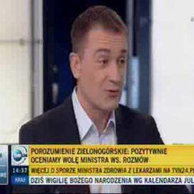 'TVN24 NEGOCJACJE Z LEKARZAMI 01 2015